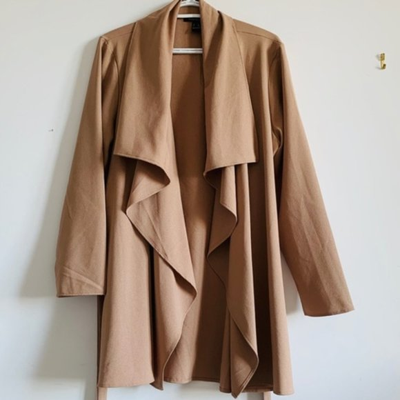 Revamped Tan Waterfall Jacket Sz. XL